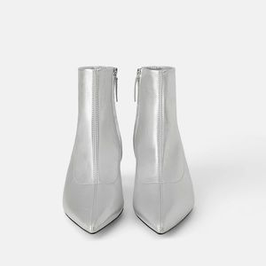 NWT Zara Kitten Heel Ankle Boots